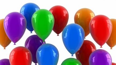 Colored balloons fly up — Stock Video
