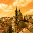 Prague's Lesser Town panorama - Stock Photo