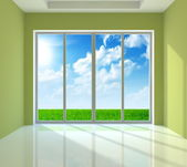 Large window — Stock Photo