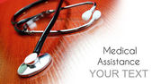 Medical assistance background — Stock Photo