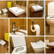 Bathroom collage — Stock fotografie