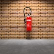 Extinguisher on wall — Stock Photo