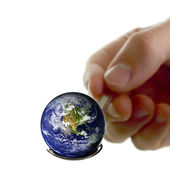 Earth on a spoon — Stock Photo