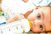 Baby feeding — Stock Photo