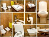 Bathroom collage — Stock Photo