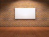 White board on wall — Stock Photo