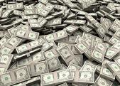 Millions of dollars — Stock Photo