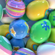 Easter eggs closeup — Stock Photo