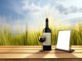 Wine bottle — Stock Photo