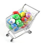 Easter eggs shopping — Stock Photo