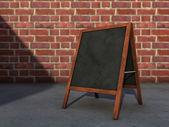 Blackboard on street — Stock Photo