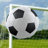 Fotboll mål — Stockfoto