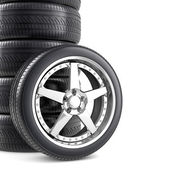 Wheels background — Stock Photo
