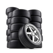 Wheels pile — Stock Photo