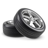 Wheels isolated — Stock Photo