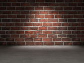 砖墙混凝土楼板 — 图库照片