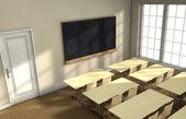 Classroom desks — Stock Photo