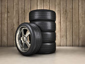 Wheels background — Stock Photo
