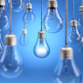 Light bulb background — Stock Photo