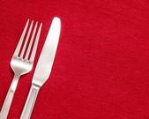 Silver cutlery — Stock Photo