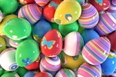 Dozens of easter eggs — Stock Photo