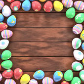 Easter eggs frame — Stock Photo