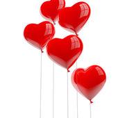καρδιά σχήμα μπαλόνια — Φωτογραφία Αρχείου