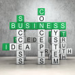 Business crossword — Stock Photo #32619281