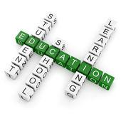 Educação de palavras cruzadas — Foto Stock