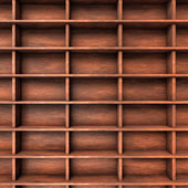 Wood shelves slots — Stock Photo