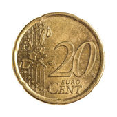 Twenty euro cents — Stock Photo
