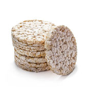 Rice cracker on white — ストック写真