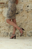 High heels and legs — Stock Photo