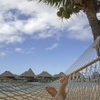 Stock Photo: Hammock in paradise