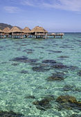 Over water bungalows — Stock Photo