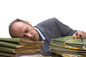 Sleeping at work — Stock Photo