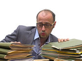 Paperwork burnout — Stock Photo