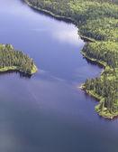 Aerial wilderness landscape — Stock Photo