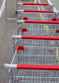Grocery carts — Stock Photo