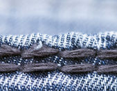 Jeans stitches — Stock Photo
