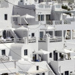 Santorini in the cliff — Stock fotografie