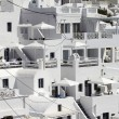 Santorini in the cliff — Stockfoto