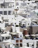 Santorini'de uçurumun — Stok fotoğraf