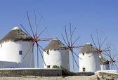 Windmills of mykonos — Stock Photo