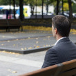Man in the park — Stock Photo