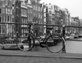 Black and white amsterdam — Stock Photo