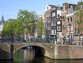 Gród Amsterdam — Zdjęcie stockowe