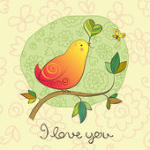 Birdie in Love — Vector de stock