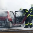 Car fire - Foto de Stock