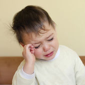 Crying sleepy child — Stock Photo